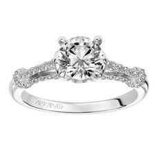 Diamond engagement ring with high polished and diamond enhanced split shank setting. Split Shank Engagement Rings, Diamond Engagement Rings, Jewelry, Jewlery, Jewerly, Schmuck, Jewels, Jewelery, Diamond Engagement Ring