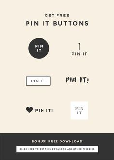 How to add a pin it button to your blog, plus download free editable pin it button templates. Repin to save for later and edit your pin it button.