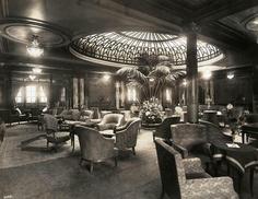 Cunard liner first class lounge