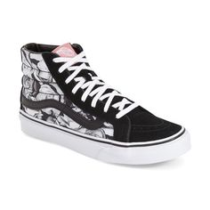 Vans High Tops White And Black