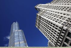 Trump Tower und Wrigley Building, (von links), Chicago, Illinois, USA