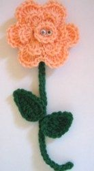 These Large Happy Flowers by Roseanna Beck are great easy crochet crafts to make for the springtime! Kids will get a kick out of their paste-on eyes, and they will also make great gifts for Mother's Day.