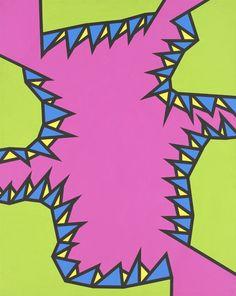"Nicholas Krushenick -Chicken Bus, 1971 acrylicon canvas 50"" x40"""