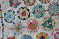 Little Island Quilting.  This quilt is made with just ONE shape!  Mind blown.