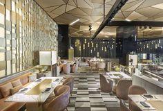 Play restaurant by Gregory Gatserelia, Dubai Restaurant Lounge, Restaurant Interior Design, House Ceiling Design, Bar Design Awards, House Extension Design, Boutique Decor, Hospitality Design, Commercial Interiors, Retail Design
