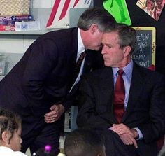 The moment George W. Bush was notified of the September 11 terrorist attacks.