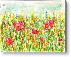 Poppies Close To Onga Acrylic Print by Entirre Kramcsak
