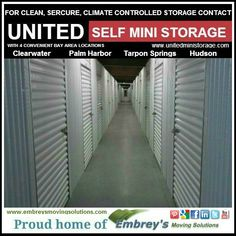 United Self Mini Storage and Embrey's Moving Solutions, the 5 Star solution to all your moving and storage needs. #WeMoveTampaBay