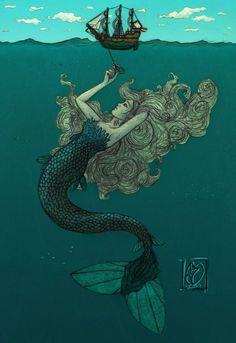 mermaid 9 | Not-So-Little Mermaid by =emjustem on deviantART