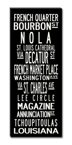 NOLA- New Orleans -24x60-Gallery wrapped Canvas Art via Etsy