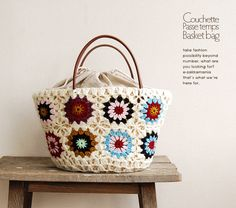 I love this crochet bag - no pattern but pretty sure I can make it