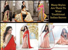 Many Styles Are There To Wear #Traditional Indian #Sarees