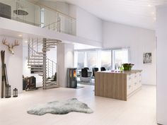 White scandinavian style living room