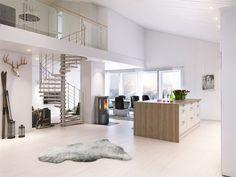 White scandinavian style living room