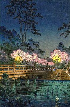 Koitsu Tsuchiya (b,1870)- Pont De Benkei La Nuit, 1933, I