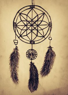 My first dream catcher drawing.