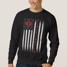Firefighter American Flag Thin Red Line Flag Sweatshirt firefighter theme party, firefighter tattoo female, firefighter christmas ornaments #fireunion #likebunkergear #black, christmas decorations, thanksgiving games for family fun, diy christmas decorations