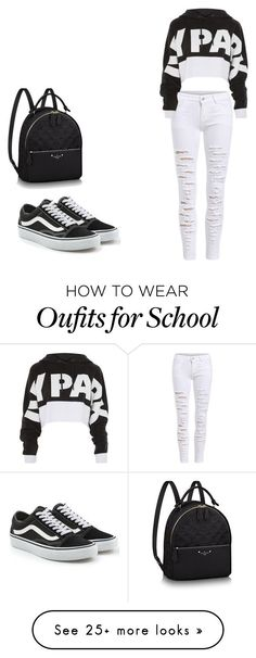 """school outfit 1"" by evelyn-degandt on Polyvore featuring Ivy Park and Vans"