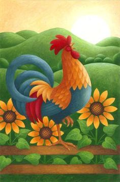 """""""Sunrise Rooster,"""" Stephanie Stouffer"""