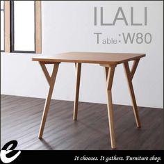 【80ダイニングテーブルILALI-イラーリ-】幅80cmダイニングテーブルテーブルダイニング天然木天然タモ材ウレタンモダン北欧