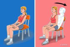 7Ejercicios para unabdomen plano yuna cintura deavispa, que puedes hacer sin levantarte delasilla