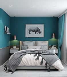 Bedroom ideas for couples romantic · colorful and playful turquoise bedroom walls, teal master bedroom, relaxing master bedroom, bedroom Light Teal Bedrooms, Turquoise Bedroom Walls, Teal Master Bedroom, Teal Bedroom Decor, Romantic Bedroom Colors, Relaxing Master Bedroom, Woman Bedroom, Small Room Bedroom, Bedroom Ideas