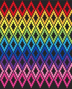 Rainbow Diamonds - C2C Crochet Pattern Blanket - Crochet Graph - Crochet Pattern - Crochet blanket -