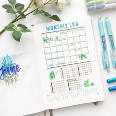 great monthly log with one of the best systems of habit tracker.