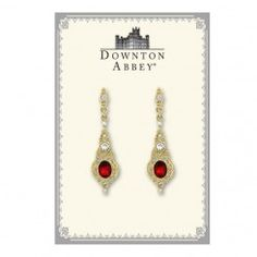 Downton Abbey® Boxed Gold-Tone Red Crystal Drop Earrings
