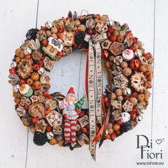 Christmas wreath, door hanger / Adventi kopogtató angyallal - Karácsony 2015 - Di Fiori