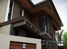 Although most homeowners will spend more time inside of their home than outside admiring the exterior, there is still something to be said for curb appeal. Modern Zen House, Modern House Design, Flat Roof House, Facade House, Architecture Magazines, Interior Architecture, Amazing Architecture, Lobby Interior, Double Storey House