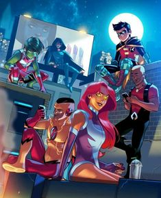 Titans being Teens