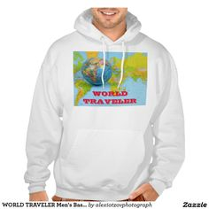 WORLD TRAVELER Men's Basic Hooded Sweatshirt