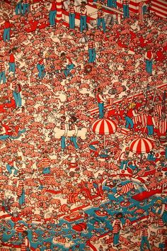 Where's Wally.... Many childhood hours spent with this