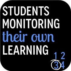Students Monitoring Their Own Learning - The Brown Bag Teacher