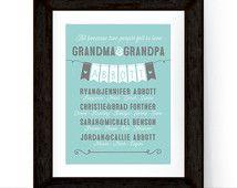 Personalized grandparent gift, 50th anniversary gifts, Christmas present grandparents, anniversary gift ideas, family wall art keepsake
