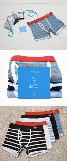 These bamboo boxer briefs, discovered by The Grommet, are made by Mr + Muse who are on a mission to help you update your man's underwear. Gifts For Hubby, Love My Man, Boxer Briefs, Boxers, Sharp Dressed Man, Gentleman Style, Underwear, Men's Undies, Look Cool