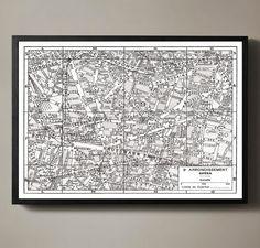 Paris Map Print Vintage S Paris France Guilmins Parisian - Restoration hardware paris map
