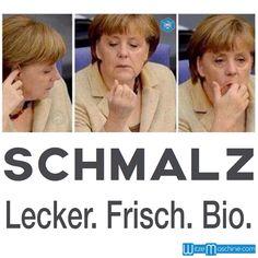 Angela Merkel isst Ohrenschmalz - Lecker. Frisch. Bio. - Merkel Witze