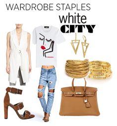 """contest wardrobe"" by silvia-khatcherian on Polyvore featuring Dsquared2, Boohoo, Alexander Wang, Matty M, Hermès and Black & Sigi"