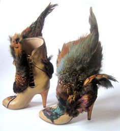 feather boots