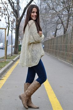 Casual outfit. Oasap sweater
