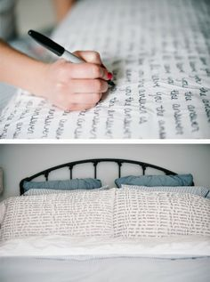DIY Sharpie Pillowcases by A Subtle Revelry - tons of cool sharpie tutorials!