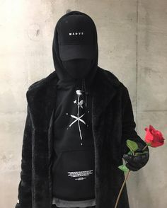 """MXDVS hoodie 1 """"lost lover"""" Cross hatching of a rose and two shivs Drawn by Max for MXDVS store.mxdvs.co"""