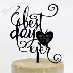 This wedding cake topper will showcase your cake in style on your big day. Professionally laser cut from gloss acrylic, there is no better way to ensure your cake become the talking point on your big night. Buy factory direct from Australia's leading cake topper suppplier, highest quality of custom cake toppers and best prices.  #GiftwareDirect
