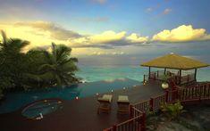 una piscina paradisiaca