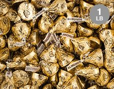 Almond HERSHEY'S KISSES Candy: In Gold Foil Sold By The Pound
