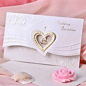 Wedding Invitation Heart Design With Flower (... – AUD $ 36.10