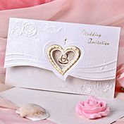 Wedding Invitation Heart Design With Flower (... – AUD $ 36.10