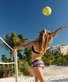 There is always a beach volleyball match going on at Blue Haven, Turks & Caicos